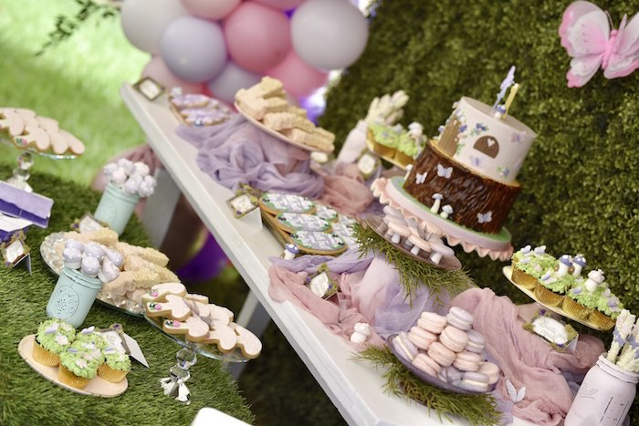 Enchanted Fairy Forest First Birthday Party on Kara's Party Ideas | KarasPartyIdeas.com (26)