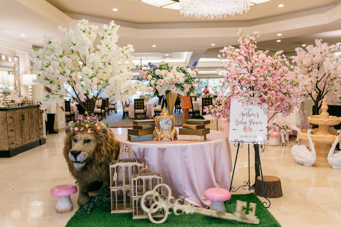 Enchanted Party Entrance + Welcome Table from an Enchanted Garden Baby Shower on Kara's Party Ideas | KarasPartyIdeas.com (29)