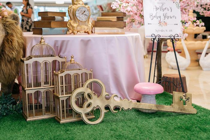 Enchanted Key + Decor from an Enchanted Garden Baby Shower on Kara's Party Ideas | KarasPartyIdeas.com (24)