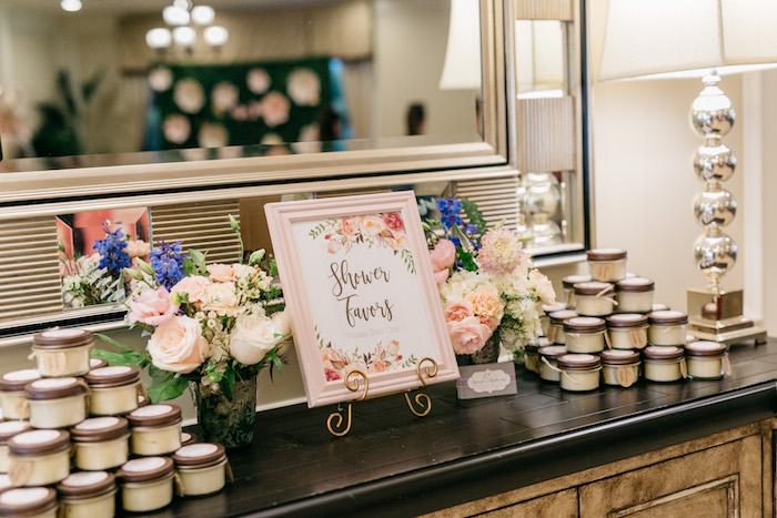 Enchanted Party Favor Table from an Enchanted Garden Baby Shower on Kara's Party Ideas | KarasPartyIdeas.com (22)