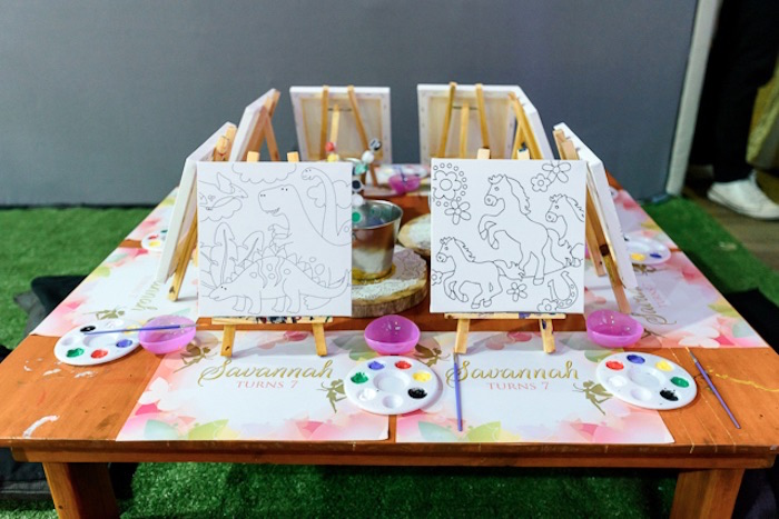 Art Table from a Fairy Princess Birthday Party on Kara's Party Ideas | KarasPartyIdeas.com (15)