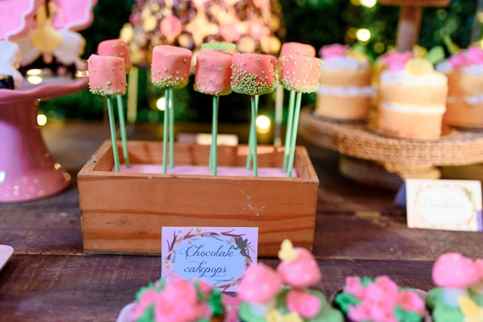 Pink Marshmallow Pops from a Fairy Princess Birthday Party on Kara's Party Ideas | KarasPartyIdeas.com (12)