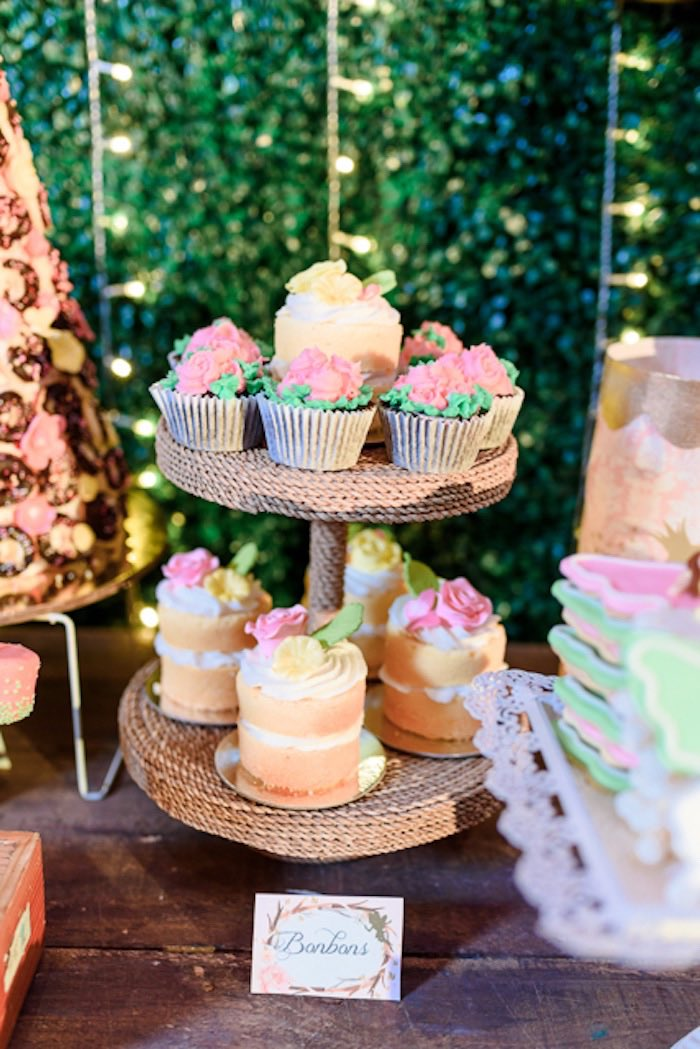 Mini Cakes + Cupcakes from a Fairy Princess Birthday Party on Kara's Party Ideas | KarasPartyIdeas.com (8)