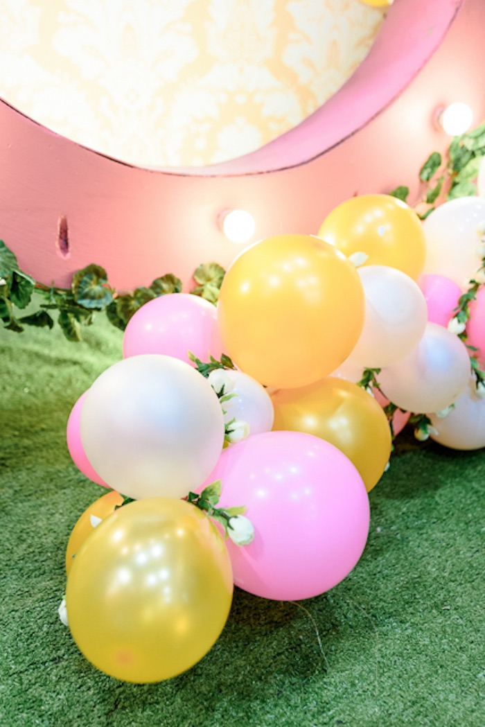 Flower Balloon Garland from a Fairy Princess Birthday Party on Kara's Party Ideas | KarasPartyIdeas.com (3)