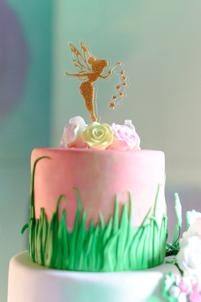 Fairy Cake Top from a Fairy Princess Birthday Party on Kara's Party Ideas | KarasPartyIdeas.com (25)