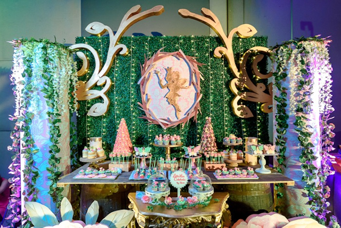 Fairy-inspired Dessert Table from a Fairy Princess Birthday Party on Kara's Party Ideas | KarasPartyIdeas.com (23)