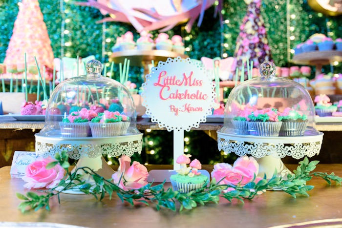 Fairy Garden Cupcakes from a Fairy Princess Birthday Party on Kara's Party Ideas | KarasPartyIdeas.com (22)