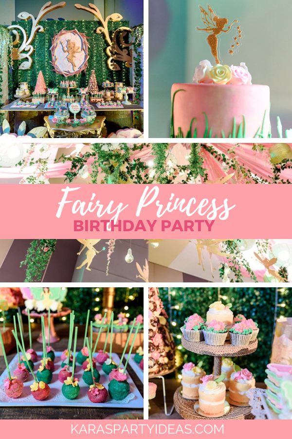 Fairy Princess Birthday Party via Kara's Party Ideas - KarasPartyIdeas.com