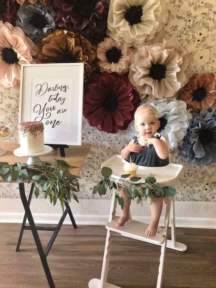 Fall Floral First Birthday Party on Kara's Party Ideas | KarasPartyIdeas.com (13)