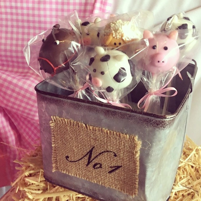 Farm Animal Cake Pops from a Farm Girl Baby Shower on Kara's Party Ideas | KarasPartyIdeas.com (8)