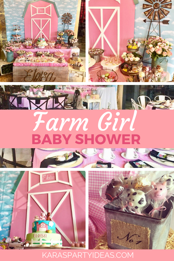 Farm Girl Baby Shower via Kara's Party Ideas - KarasPartyIdeas.com