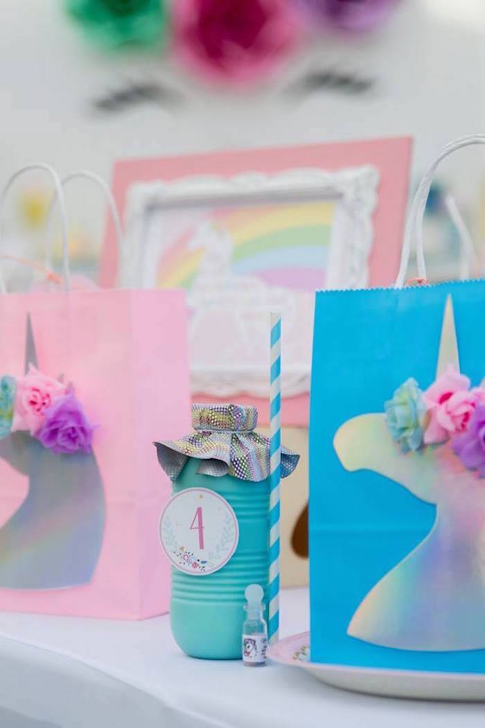Color-coordinated Unicorn Table Settings from a Floral Unicorn Birthday Party on Kara's Party Ideas | KarasPartyIdeas.com (18)