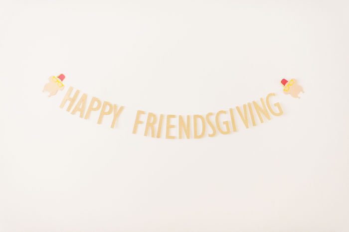 Happy Friendsgiving Banner from a Friendsgiving FRIENDS Themed Thanksgiving Party on Kara's Party Ideas | KarasPartyIdeas.com (11)