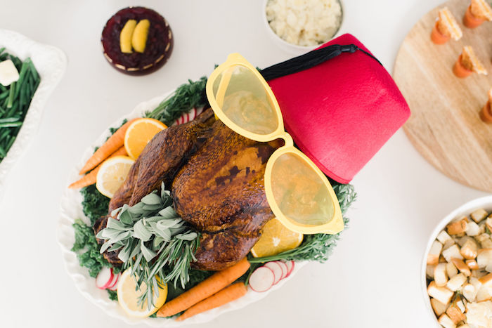 F.R.I.E.N.D.S. inspired Turkey from a Friendsgiving FRIENDS Themed Thanksgiving Party on Kara's Party Ideas | KarasPartyIdeas.com (31)