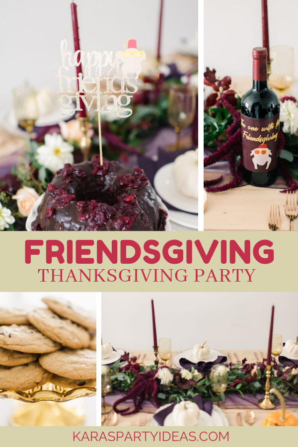 Friendsgiving FRIENDS Themed Thanksgiving Party via Kara's Party Ideas - KarasPartyIdeas.com