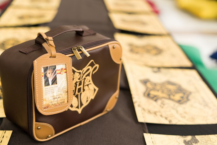 Hogwarts Luggage + Souvenir Bag from a Harry Potter Birthday Party on Kara's Party Ideas | KarasPartyIdeas.com (34)