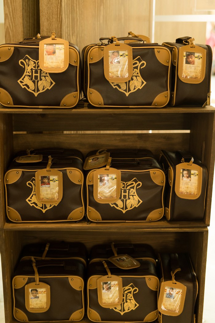 Hogwarts Luggage + Favors from a Harry Potter Birthday Party on Kara's Party Ideas | KarasPartyIdeas.com (33)