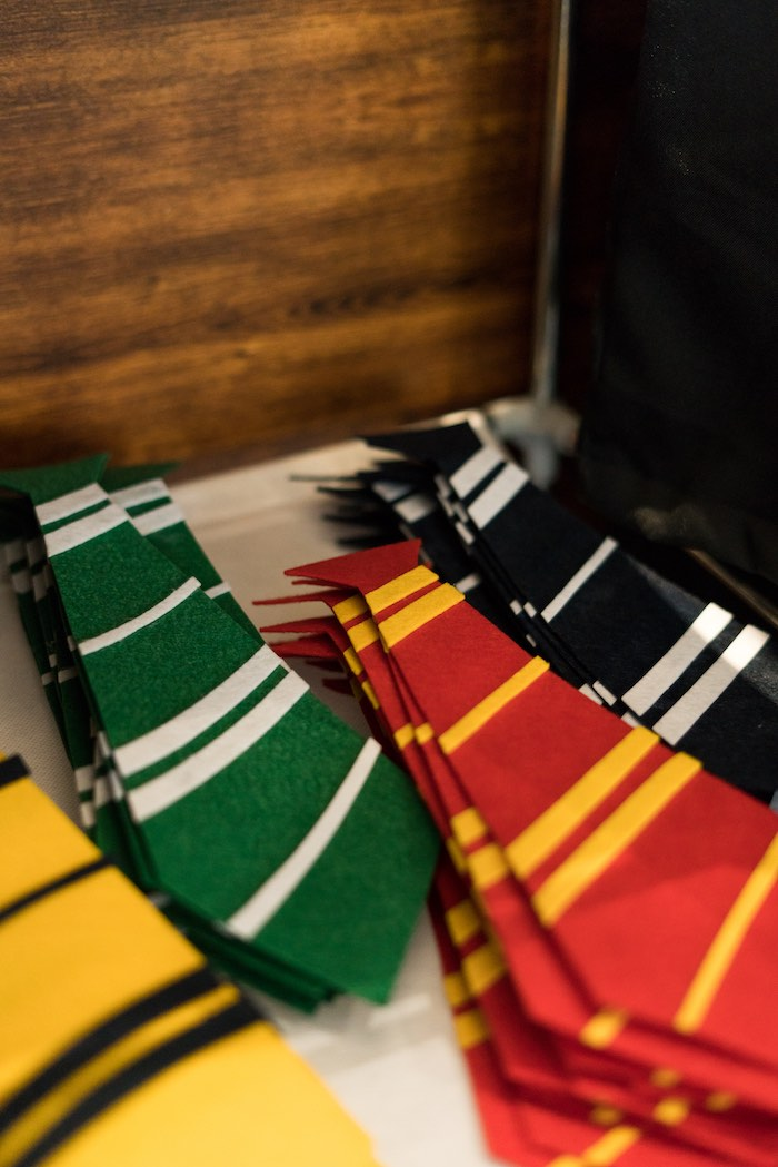 Hogwarts House Ties from a Harry Potter Birthday Party on Kara's Party Ideas | KarasPartyIdeas.com (31)
