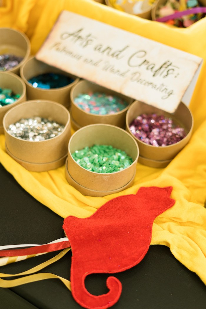 Patronus & Wand Decorating Activity from a Harry Potter Birthday Party on Kara's Party Ideas | KarasPartyIdeas.com (55)