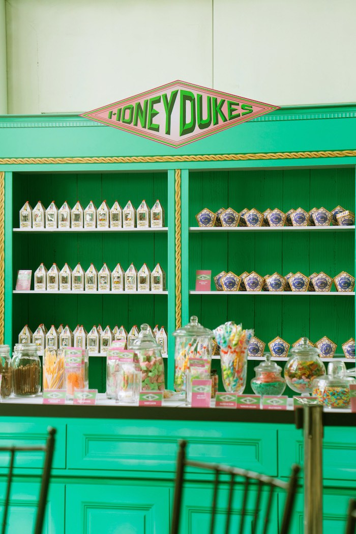 Honeydukes Candy + Dessert Buffet from a Harry Potter Birthday Party on Kara's Party Ideas | KarasPartyIdeas.com (24)