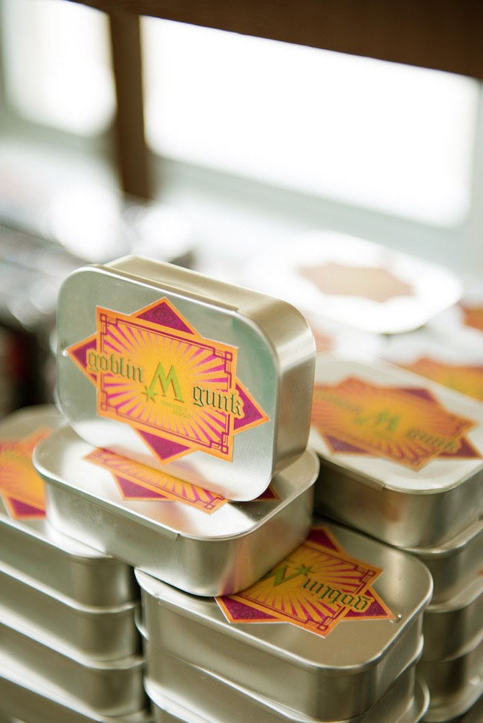 Goblin M Gunk Tins from a Harry Potter Birthday Party on Kara's Party Ideas | KarasPartyIdeas.com (22)
