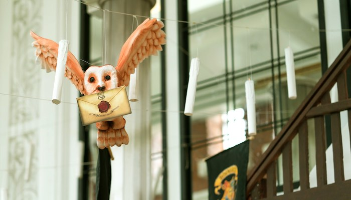 Hanging Owl Carrier from a Harry Potter Birthday Party on Kara's Party Ideas | KarasPartyIdeas.com (50)