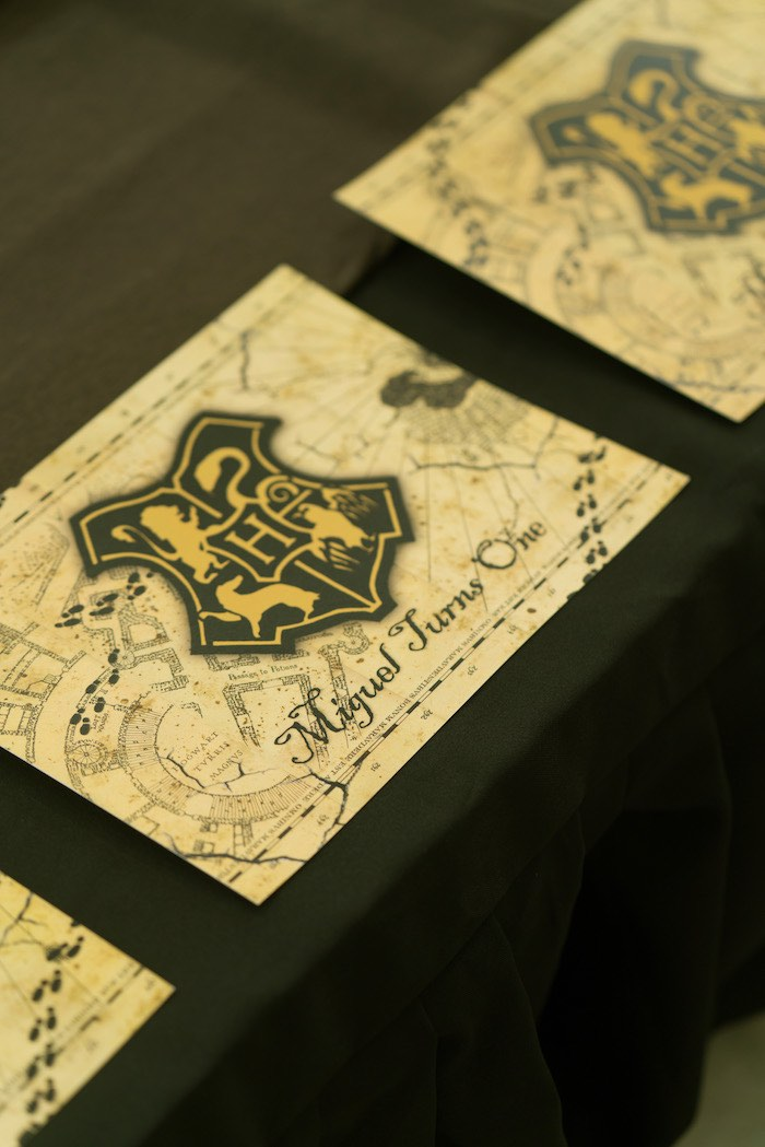 Hogwarts Crest Placemats from a Harry Potter Birthday Party on Kara's Party Ideas | KarasPartyIdeas.com (49)