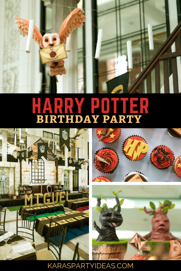Harry Potter Birthday Party via Kara's Party Ideas - KarasPartyIdeas.com