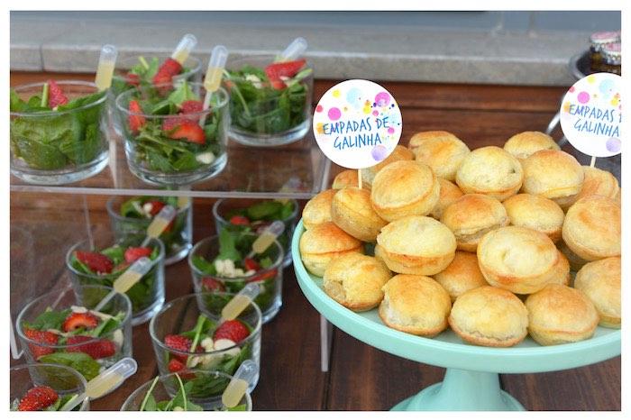 Pan Rolls from a Joy of Color Birthday Party on Kara's Party Ideas   KarasPartyIdeas.com (17)