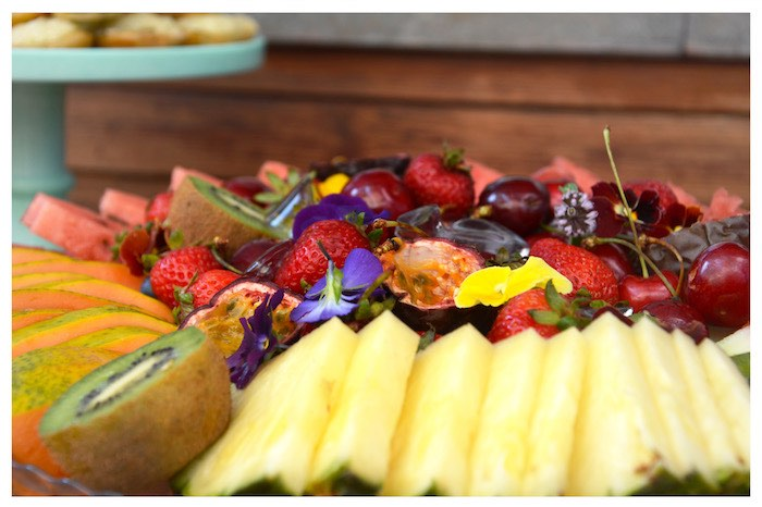 Fruit Plate from a Joy of Color Birthday Party on Kara's Party Ideas   KarasPartyIdeas.com (16)