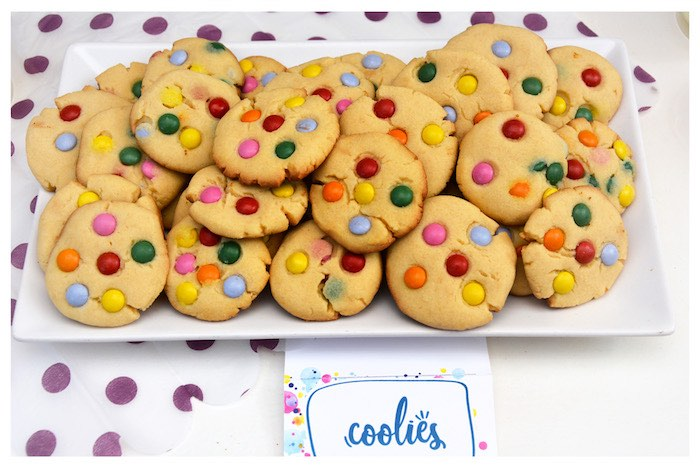 Colorful Cookies from a Joy of Color Birthday Party on Kara's Party Ideas   KarasPartyIdeas.com (13)
