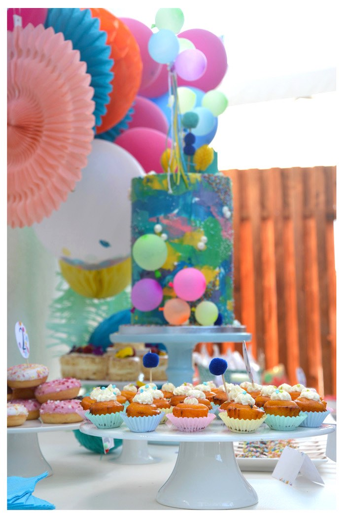Muffins from a Joy of Color Birthday Party on Kara's Party Ideas | KarasPartyIdeas.com (26)