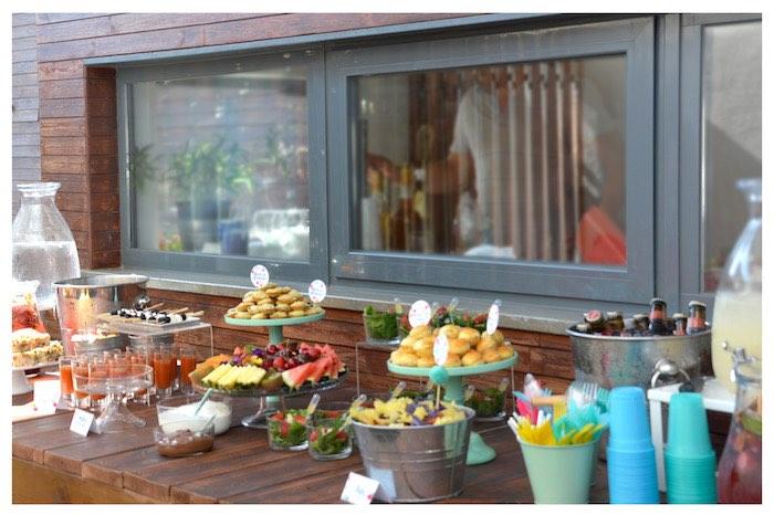 Food Table from a Joy of Color Birthday Party on Kara's Party Ideas   KarasPartyIdeas.com (7)