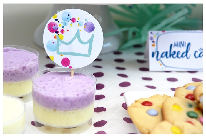 Pudding Cup + Sweet Label from a Joy of Color Birthday Party on Kara's Party Ideas | KarasPartyIdeas.com (6)