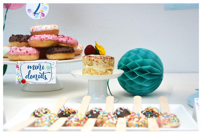 Dessert Table from a Joy of Color Birthday Party on Kara's Party Ideas | KarasPartyIdeas.com (5)