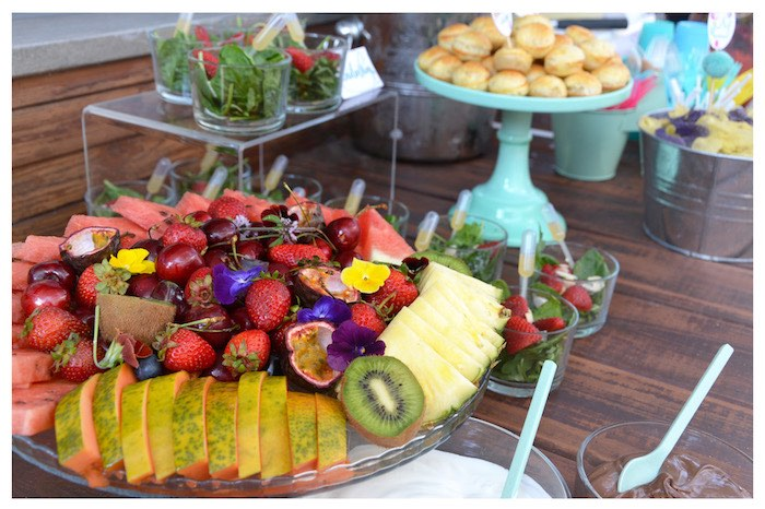 Fruit Plate from a Joy of Color Birthday Party on Kara's Party Ideas | KarasPartyIdeas.com (4)
