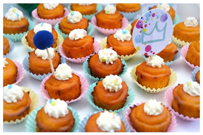 Mini Muffins from a Joy of Color Birthday Party on Kara's Party Ideas | KarasPartyIdeas.com (3)