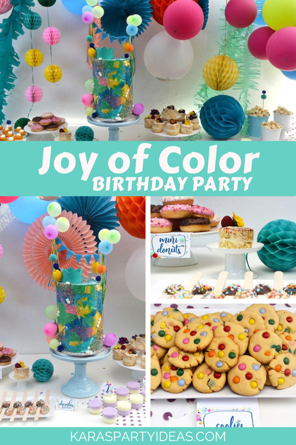 Joy of Color Birthday Party via Kara's Party Ideas - KarasPartyIdeas.com