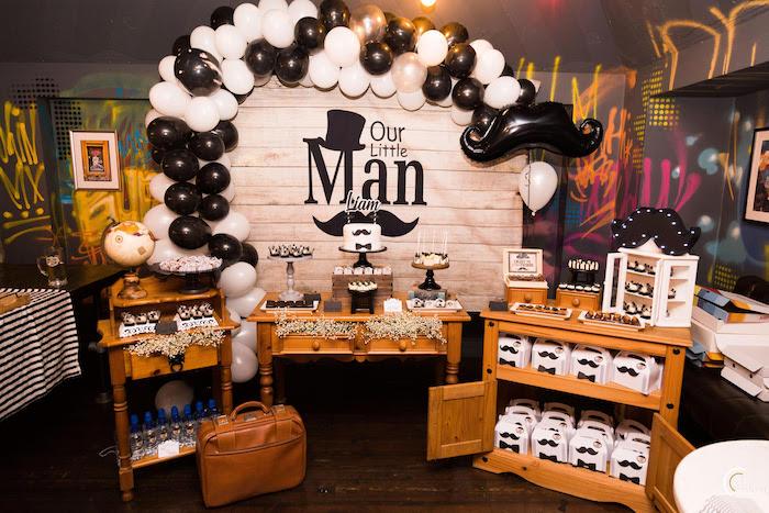 Little Man Mustache Party on Kara's Party Ideas | KarasPartyIdeas.com (3)