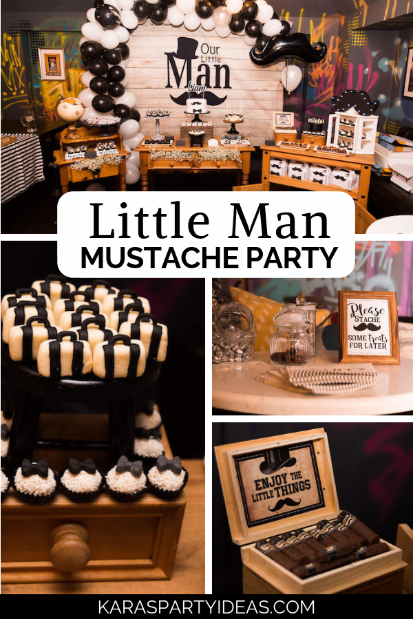 Little Man Mustache Party via Kara's Party Ideas - KarasPartyIdeas.com
