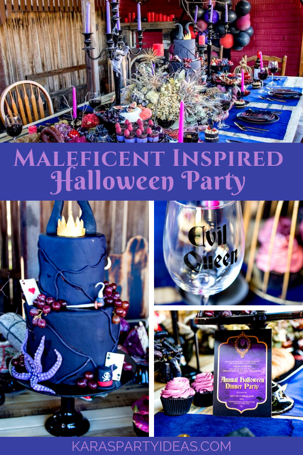 Halloween Dinner Party Ideas.Kara S Party Ideas Maleficent Inspired Halloween Party