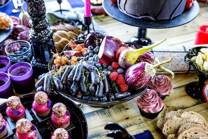 Fruit Plate from a Maleficent's Villain Halloween Party on Kara's Party Ideas | KarasPartyIdeas.com (25)