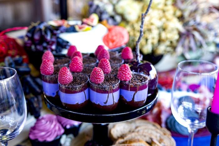 Dessert Cups from a Maleficent's Villain Halloween Party on Kara's Party Ideas | KarasPartyIdeas.com (23)