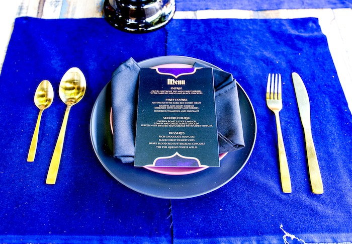 Maleficent Inspired Table Setting from a Maleficent's Villain Halloween Party on Kara's Party Ideas | KarasPartyIdeas.com (35)