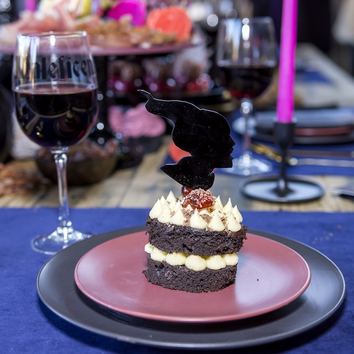 Maleficent Table Setting + Silhouette Dessert Topper from a Maleficent's Villain Halloween Party on Kara's Party Ideas | KarasPartyIdeas.com (12)