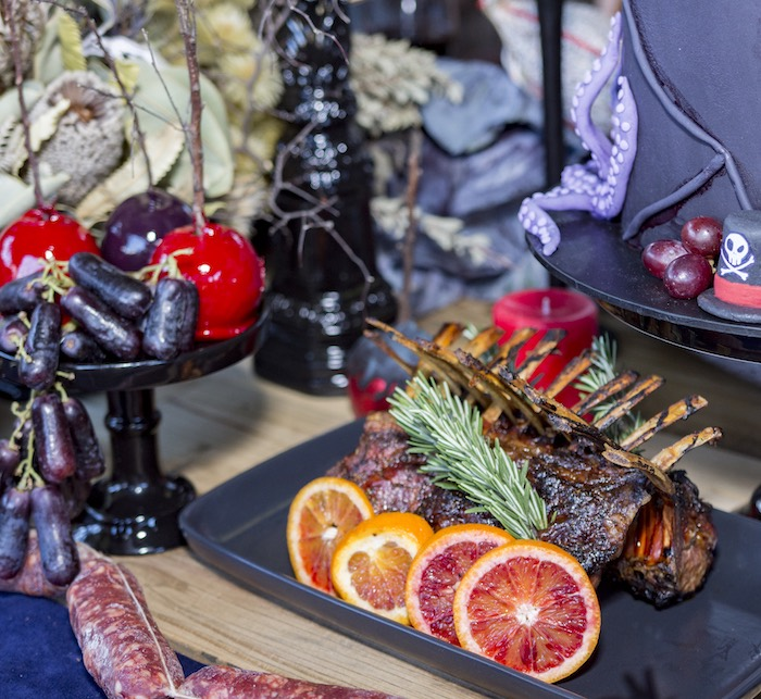 Meat Rack from a Maleficent's Villain Halloween Party on Kara's Party Ideas | KarasPartyIdeas.com (11)