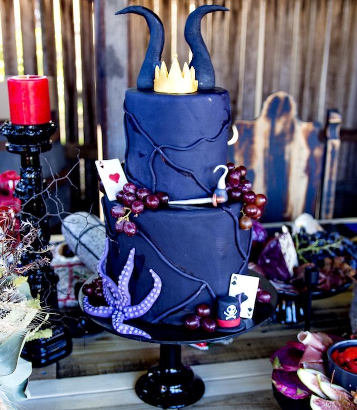 Maleficent Cake from a Maleficent's Villain Halloween Party on Kara's Party Ideas | KarasPartyIdeas.com (34)
