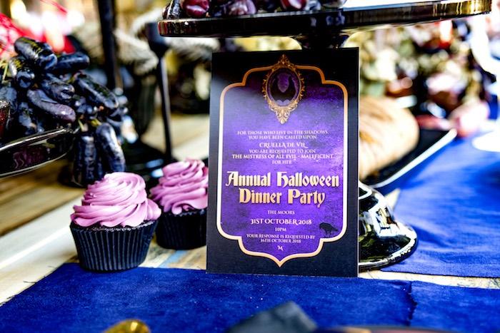 Halloween Dinner Party Invite from a Maleficent's Villain Halloween Party on Kara's Party Ideas | KarasPartyIdeas.com (32)