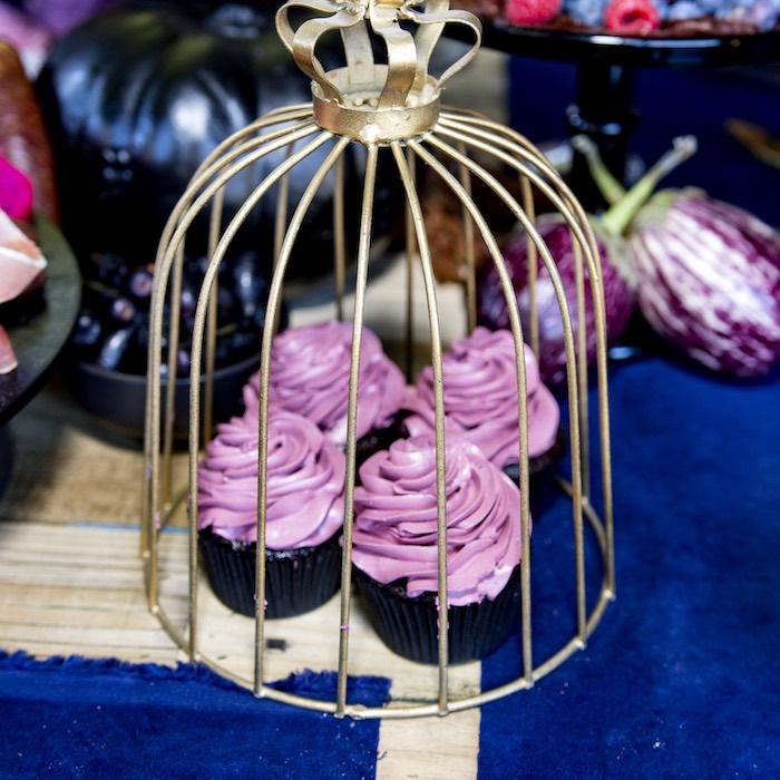 Cupcakes from a Maleficent's Villain Halloween Party on Kara's Party Ideas | KarasPartyIdeas.com (27)