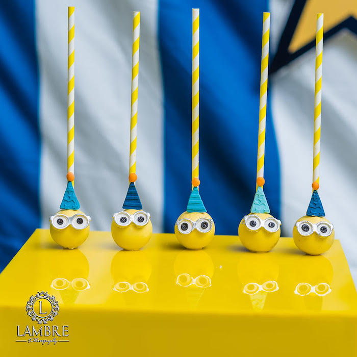 Party Minion Cake Pops from a Minion Carnival Birthday Party on Kara's Party Ideas | KarasPartyIdeas.com (5)